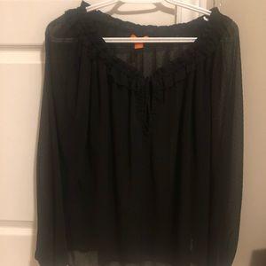 New Joe Fresh sheer polka dot blouse size M